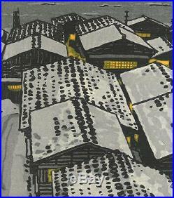 Kasamatsu Shiro SK22 Echigi no Umi Japanese Woodblock Print