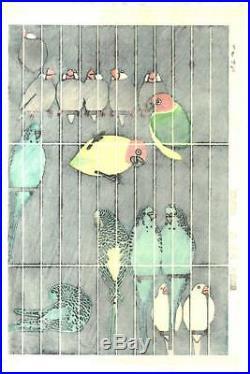 Kasamatsu Shiro sk38 Torikago (Birdcage) Japanese Woodblock Print