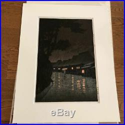 Kawase Hasui Japanese Woodblock print 250 x 380 mm Ukiyoe Rare Vintage Collector