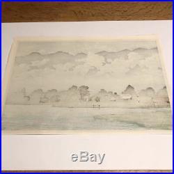 Kawase Hasui Japanese Woodblock print 260 x 380 mm Ukiyoe Rare Vintage Collector