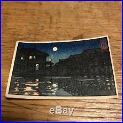 Kawase Hasui Japanese woodblock print Reprint 40 x 60 mm Rare Vintage Collector