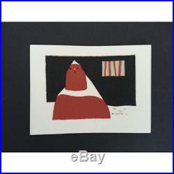 Kiyoshi Sait boxed set of 12 woodblock printed cards'50s INV1911