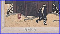 Kiyoshi Saito Japanese Woodblock Print Hand Signed 1958 Woodcut 3 colores