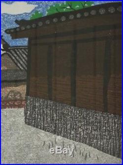 Kiyoshi Saito Japanese Woodblock Print Spring in Aizu Signed Vintage 1960s