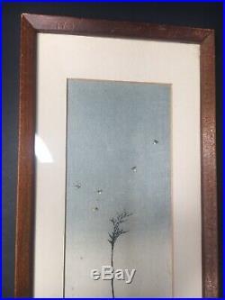 Koho Shoda Catching Fireflies Japanese Woodblock Print Signed