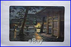 Koitsu Tsuchiya JAPANESE WOODBLOCK PRINT Takanawa Sengakuji Temple Tokyo Views