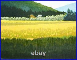 LIMITED EDITION JAPANESE WOODBLOCK PRINT by SEIJI SANO MOUNTAIN VILLAGE