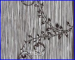 d7a0e994c Large Antique Japanese Kimono Fabric Stencil Katagami Print Edo Woodblock  19th