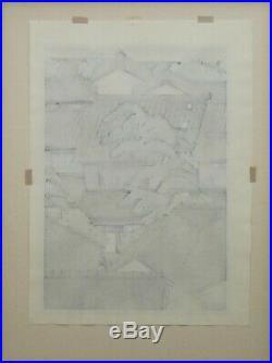 MASAO IDO JAPANESE Woodblock print limited framed signed 15/150 rare hand