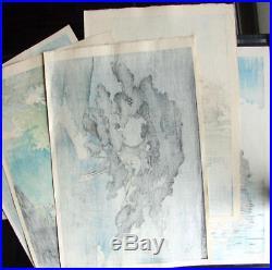 MINT! 1934 Kawase Hasui Onuma Park Original Japanese Woodblock Print RARE