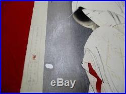 M-11 TSUNETOMI Kitano Japanese ukiyoe Woodblock print SAGIMUSUME Meihin