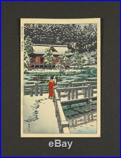 Nw1528yjbCu3 Japanese woodblock printed makuri KASAMATSU SHIRO INOKASHIRA BENTEN