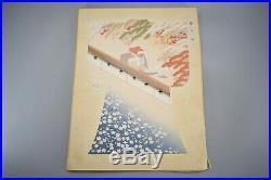 ORIGINAL Large prints Japanese KIMONO Woodblock Print Pattern Design Book 81