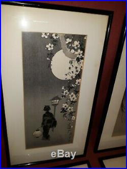Old or Antique Japanese Woodblock Print Group 4 Pcs