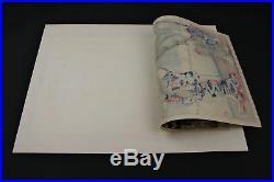 Original Meiji Period Japanese Woodblock Print Sumida River Geisha, Chikanobu