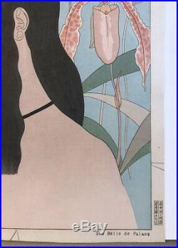 Original Paul Jacoulet Japanese Woodblock Print Une Belle de Palaos Orchid Palau