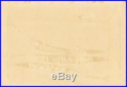 RARE TAMAMI SHIMA Japanese woodblock print FISH AND EGGPLANT, Hand signed