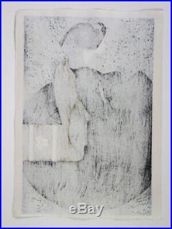Rare Japanese Kiyoshi Saito Woodblock Print Maiko Edo Ukiyoe Art Work Signed