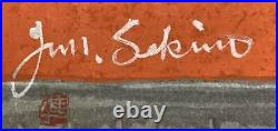 SEKINO JUNICHIRO Japanese Original Woodblock Print Art KAMEYAMA Signed