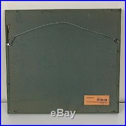 Signed 1956 Tadashi Nakayama Japanese Woodblock Print Girl in the Wind Framed