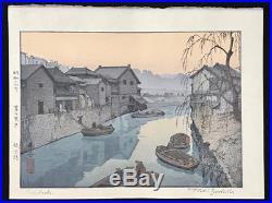 TOSHI YOSHIDA Japanese Woodblock Print LIDABASHI
