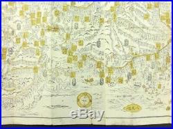 TRAVEL GUIDE TO JAPAN Japanese Woodblock Print Map 1.5M Long Fuji 1845 EDO 124