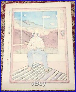 T. C. CANNON Self Portrait Original Japanese Woodblock Print (Artist Proof)