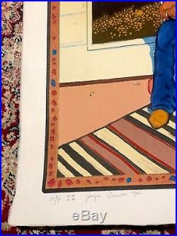 T. C. CANNON Self Portrait Original Japanese Woodblock Print (Artist Proof II)