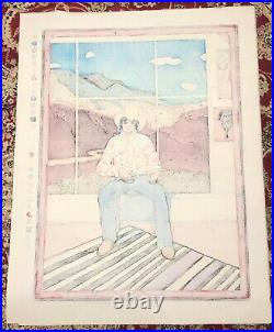 T. C. CANNON Self Portrait Original Japanese Woodblock Print Native American