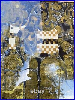Tadashi Nakayama 1963 Japanese woodblock print Horse