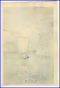 Terauchi Fukutaro Original JAPANESE OBAN WOODBLOCK PRINT Sailboat