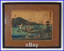 Utagawa Hiroshige (1797-1858) Otsu WOODBLOCK PRINT