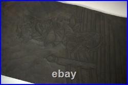 VG149 Japanese Antique wood block wooden Ukiyoe woodcut printing block