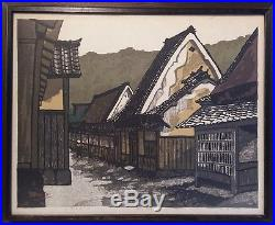 Vintage 1977 Framed Japanese Woodblock Print Signed Seeichiro Konishi LE 113/170