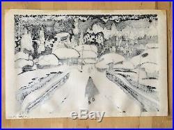Vintage Kiyoshi Saito Woodblock Print From The Series Winter In Aizu