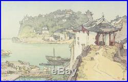 Yoshida Hiroshi (Japanese 18760 1950) Woodblock Print Sekichozan Shizhongshan