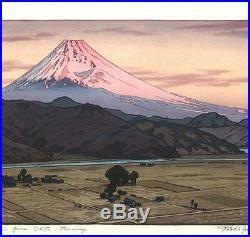 Yoshida Toshi #016205 Mt. Fuji from Ohito in the morning