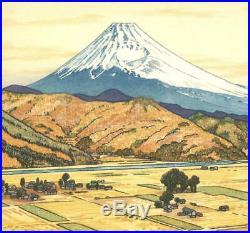 Yoshida Toshi #018301 Mt. Fuji from Ohito, Autmun Japanese Woodblock Print