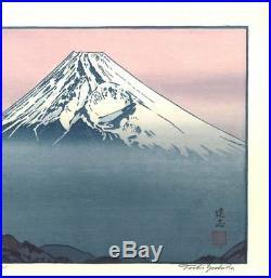 Yoshida Toshi From katsuragi-yama Japanese Woodblock Print Rare Free shipping