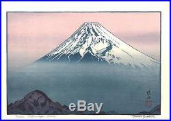 Yoshida Toshi Mount Fuji from Katsuragiyama Japanese Woodblock Print
