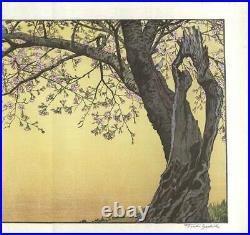 Yoshida Toshi Vintage Woodblock Print Cherry Blossoms