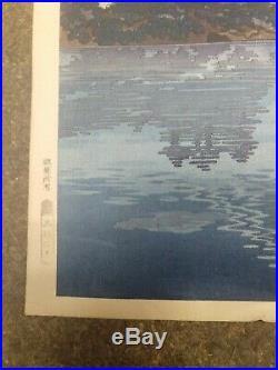 (rare) TSUCHIYA KOITSU Lake Kawaguchi in Koshu Japanese woodblock print
